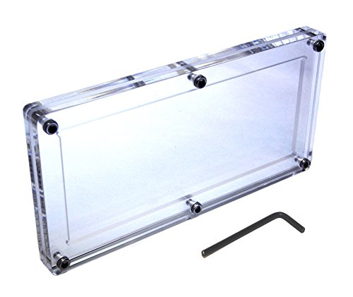 Nice Acrylic Single US Bank Note Frame Plastic Money Holder Currency Display Dollar Bill Slab Case for cheap