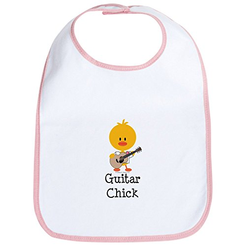 CafePress Guitar Chick Cute Cloth Baby Bib, Toddler Bib