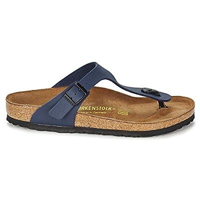 Birkenstock Womens Gizeh Slide Sandal, Blue, 37 M EU