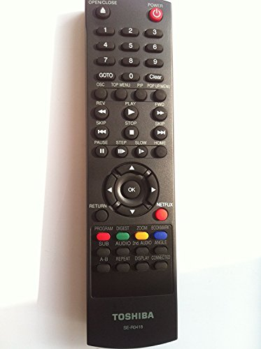 New Remote SE-R0418 Work for Toshiba Blu-ray DVD Bd Player Bdk33 Bdx2300 Bdx3300 Bdx5300 Ku Bdx2300ku Bdx5300ku Bdx2300 Bdx5300 Bdk33 Bdx3300 Bdk23 Bdk23ku Bdk33ku Bdx3300ku Bdx4300ku Bdx2300 Bdx5300 (Toshiba Blu Ray Remote Control)