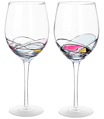 Wine Glass - LAMIGA Unique Hand Painted Gifts for Women, Men