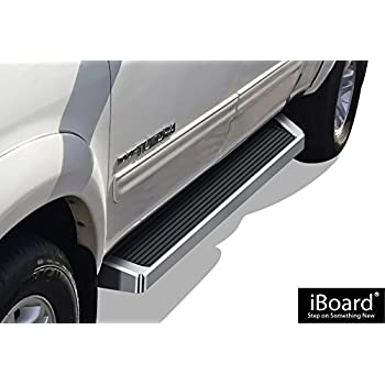 Amazon Com Aps Iboard Silver Running Board Style