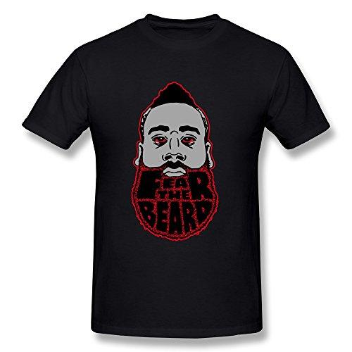 ManrvMtop Men's Fear The Beard James Harden Houston Rockets 13 Basketball T-shirt M
