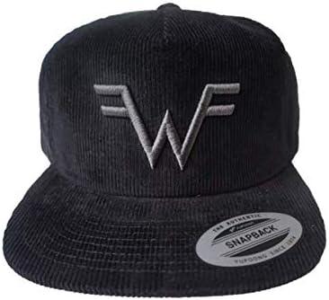 Weezer Logo Black Corduroy Hat