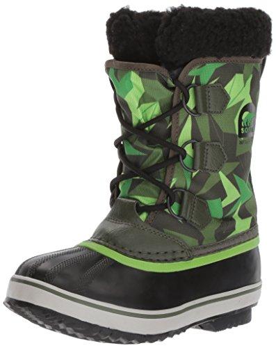 - Sorel Unisex-Kids Yoot Pac Nylon, Surplus Green, Green Mamba, 4 M US Big Kid