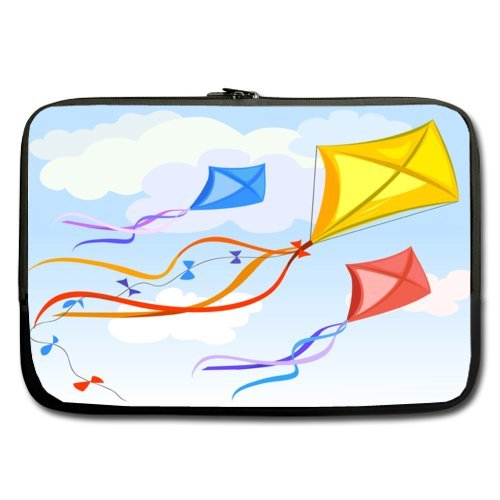 Beautiful Kite Flying In The Sky 100% Water Resistant Neoprene Notebook Computer Double-sided,No Straps (Sky High Kites)