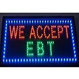 CHENXI Animated LED Business ATM SIGN +On Off Switch Bright Light 48 X 25 CM (48 X 25 CM, O)