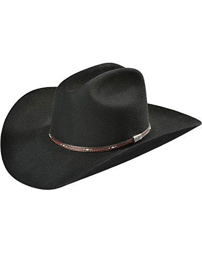 Resistol Leather - Resistol Men's George Strait Kingman 6X Fur Felt Cowboy Hat Black 7 1/2