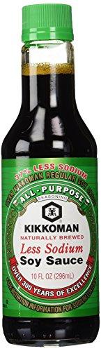 - Kikkoman Less Sodium Soy Sauce 10 oz