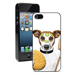 Apple iPhone 4 4S 4G Black 4B868 Hard Back Case Cover Color Jack Russell Wellness Spa Dog