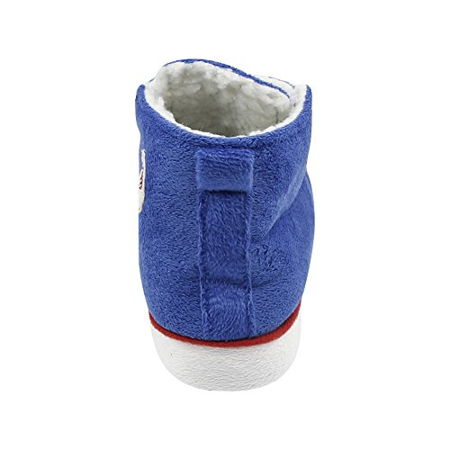 Gohom Slipper Dark Blue 7 US House Indoor Chinese Women's Soft Fun Boots amp;Red FqgXFr