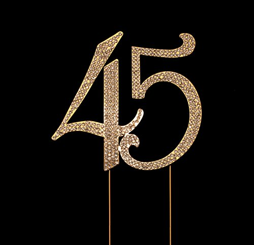 Number 45 for 45th Birthday Cake Topper, 45th