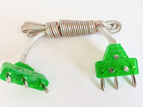 Fencing Body Cord for Epee, 3 pin Green