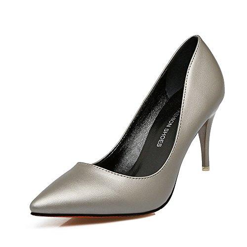 un Xue pintura zapato con Qiqi 7 cm solo tacones gun con en cuero la altos 38 Punta chica de comunidad de salvaje de luz la fina colour zapatos rrPnxRBqw