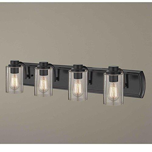 Industrial Seeded Glass Bathroom Light Bronze 4 Lt (Lighting Classic Bronze)