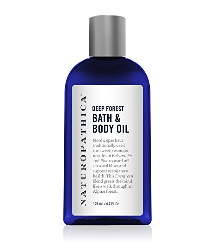 Naturopathica Deep Forest Bath Body Oil, 4.2 oz. Bath and Massage Essential Oil Blend to Help Revive the Body and Mind with Pine Essential Oil