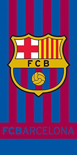 Official FC BARCELONA Home Style Stripe Towel 140cm x ()