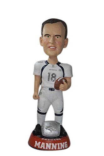 NFL Denver Broncos Peyton Manning #18 Super Bowl 50 36 Bobble Head Toy Figure, One Size, White