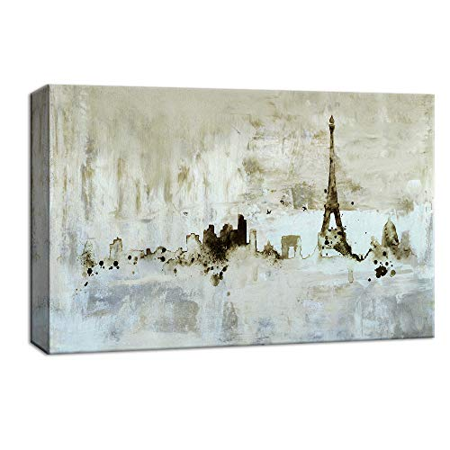 - NWT Canvas Wall Art Abstract Paris Eiffel Towel Painting Artwork for Home Decor Framed 32x48 inches