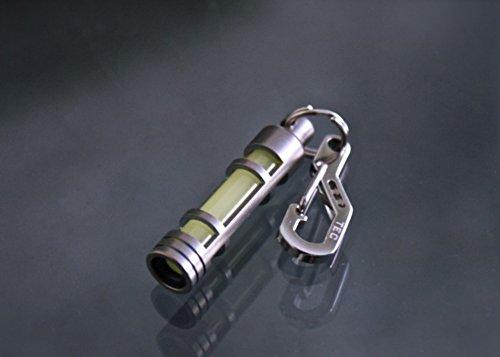 TEC Accessories Titanium Next Generation EMBRITE Glow Fob: Precision Glow in the Dark Keychain