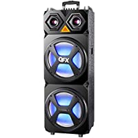 QFX SBX-122 High Powered Pro Pa Speaker with Wireless Microphone