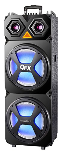 QFX SBX-122 High Powered Pro Pa Speaker with Wireless Microphone by QFX
