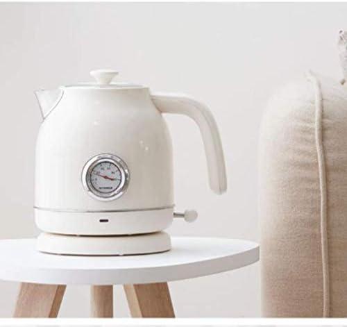Bouilloire électrique sans Fil à ébullition Rapide Arrêt Automatique à la Maison Bouilloire en Mode rétro 304 en Acier Inoxydable Anti-séchage 17 L Blanc