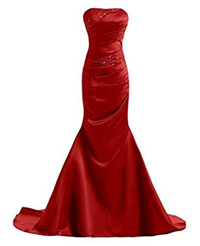 Kleider Rot Sweetheart Party Damen Dance Schwanz Meerjungfrau emmani 05YUBvwnxv