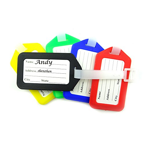 Honbay Environmental Plastic Checked Baggage Tags 15PCS/Pack