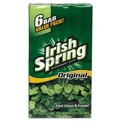 - Irish Spring Deodorant Soap 3.75oz. (6 Bars)