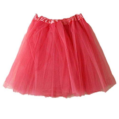Skirt Wool Red Suit (TOPUNDER Ballet Tutu Layered Organza Lace Mini Skirt For Women)