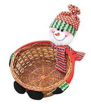 Caomoa Cestini di caramelle di Natale barattolo di caramelle cesto di caramelle cesto regalo decorazioni natalizie ornamenti desktop forniture (10)