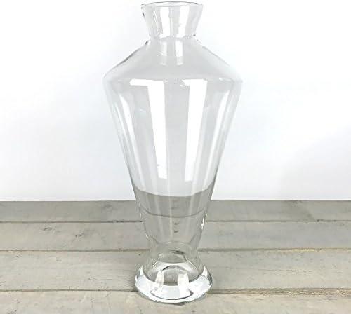 EMH Faite /à la Main Contemporain Clair Fleur Vase en Verre Bunch Bouquet Hauteur 40/cm