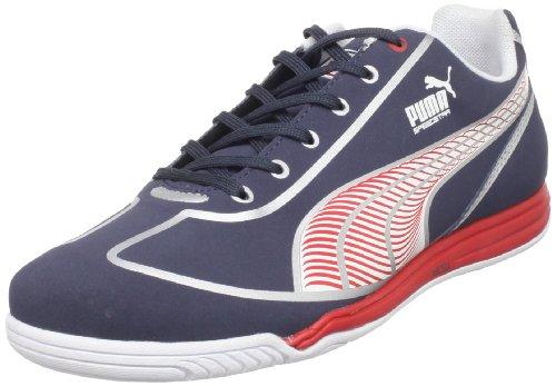 Puma Unisex Speed Star Indoor Soccer Shoe,Navy/White/ Red/Silver,6 M US Men's/7.5 M US Women's