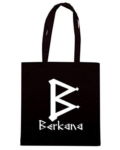 T-Shirtshock - Bolsa para la compra T0296 berkana religioni celtic Negro