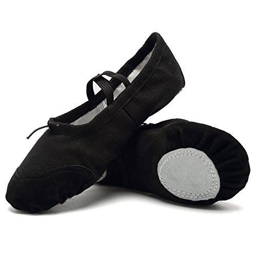 Image of CIOR Ballet Slippers for Girls Classic Split-Sole Canvas Dance Gymnastics Yoga Shoes Flats