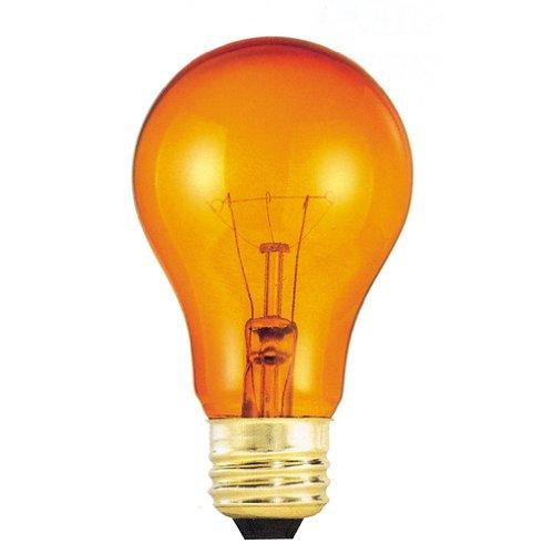 (Bulbrite 105525 25W Transparent Orange A19 Bulb, 1-Pack)