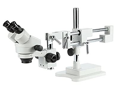 GOWE Professional Industrial Microscope 7x-45x 20cm wd Double Boom Stand Stereo Zoom Binocular Microscope