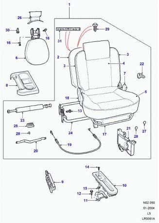 Land Rover Genuine Handle Squab Release Rear SEAT Discovery 2 II 99-04 RH HXO100020PUY