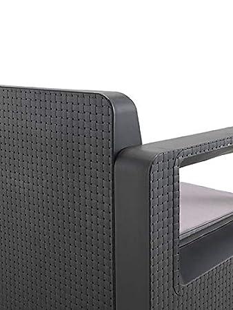 Shaf, sofá conjunto 2 asientos + 2 sillones, antracita