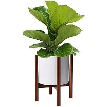 Amazoncom Mid Century Modern Plant Stand Wooden Indoor Flower