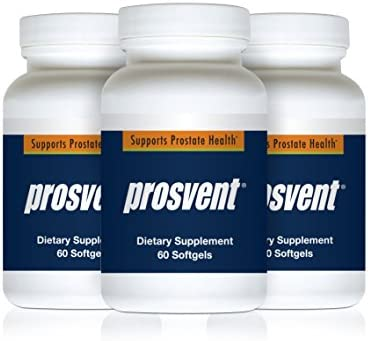 Prosvent – Natural Prostate Health Supplements for Men – Clinically Tested Ingredients – Saw Palmetto, Pygeum, Lycopene, Stinging Nettle, Beta Sitosterol, and Pumpkin Seed Oil. 3mth Supply -180 Count