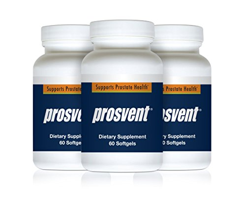 PROSVENT-NATURAL PROSTATE HEALTH SUPPLEMENT -Clinically Tested Ingredients- Reduce Urgency & Frequency. Improve Flow, Sleep, Health & Quality Of Life. OVER 180 MILLION DOSES SOLD! –3 Month Supply by Prosvent