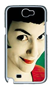 Amelie Poulain Polycarbonate Hard Case Cover for Samsung Galaxy Note II N7100 White