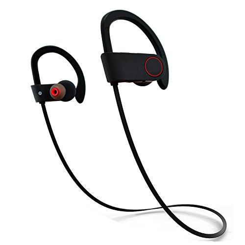 top4cus U8 Bluetooth V4.1 Earbuds Wireless Sports Headphones In-ear Sweatproof Headset with Microphone for Running and Fitness - Black