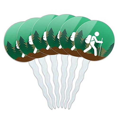 Hiker-Hiking-Symbol-Mountain-Nature-Cupcake-Picks-Toppers-Decoration-Set-of-6