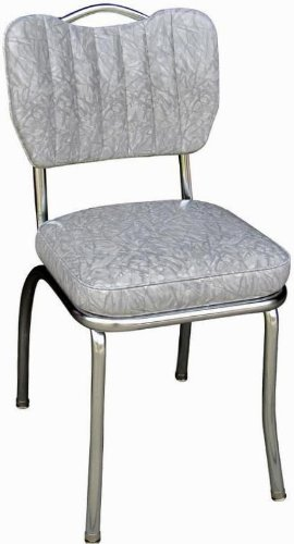 Richardson Seating Handle Back Diner Chair with Single Tone Channel Back 2 Box Seat – Cracked Ice Grey