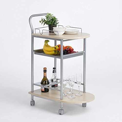 Aingoo Movable Kitchen Cart With 3 Shelves Food Storage Kitc