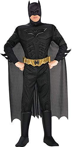 Cheap Mens Superhero Costumes (Rubie's Costume Co Batman The Dark Knight Rises Adult Batman Costume, Black,)