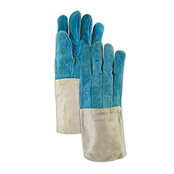 Magid Glove & Safety T4650WL  Split Full Leather Gloves, Large, Blue (Pack of 12)